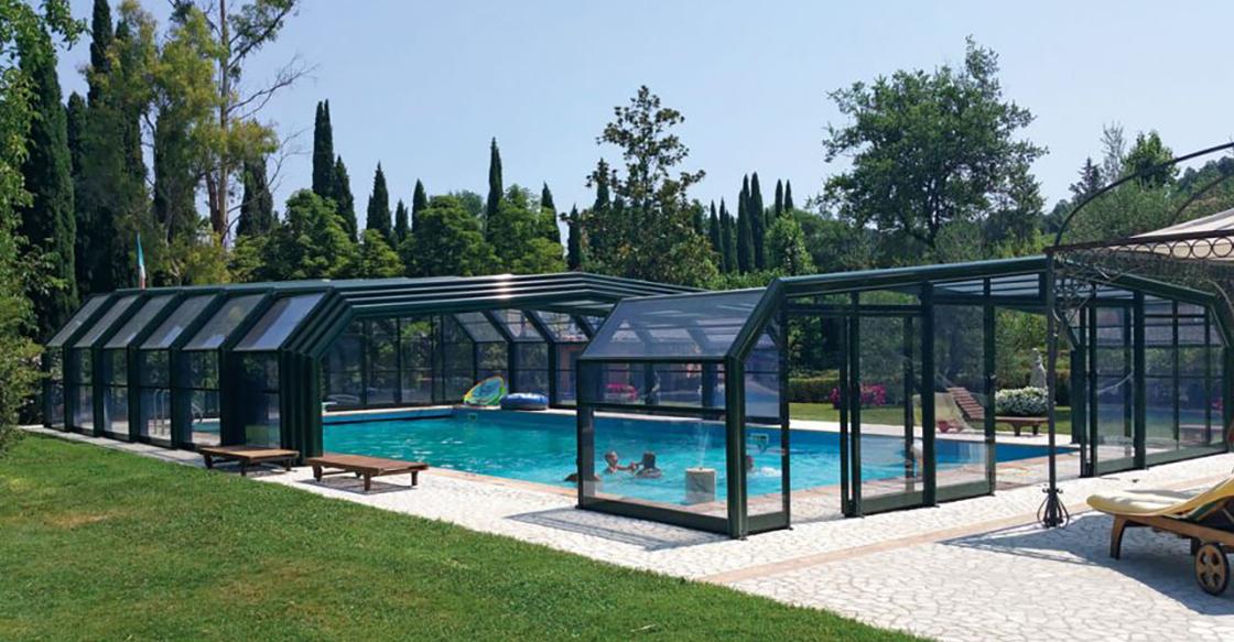 copertura alta piscine