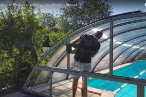 copertura per piscina alta con guide modello bronzo 600x400 1