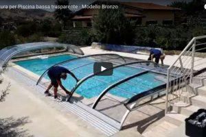 copertura per piscina bassa trasparente modello bronzo 600x400 1